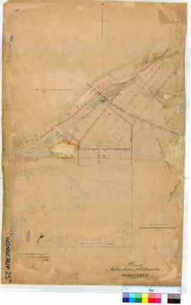 Wonnerup 25A. Plan of Townsite of Wonnerup showing part of Geographe Bay, Wonnerup Inlet and Mull...
