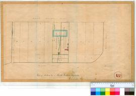 Perth 18Q. Plan showing part of Section L in Perth Townsite between St Georges Terrace & Bazaar Street. [scale: 1 chain to an inch, Tally No. 005769].