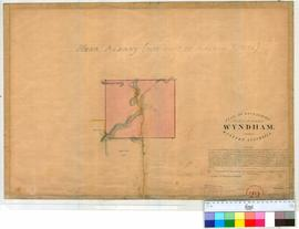 Wyndham 29. Plan of boundaries proposed for Townsite of Wyndham - 1280 acres, near Albany (Now pa...