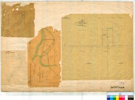 Northam 13/4. Four separate small plans within the Northam Townsite. 1 by A. Hillman undated [sca...
