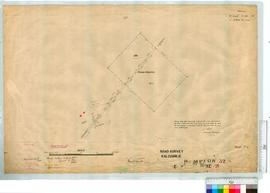 Road Survey - Kalgoorlie Sheet 2 by J.C. Watts Fieldbook 20. [scale: 4 chains to an inch].