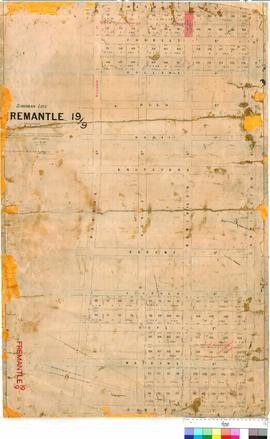 Fremantle 19/9. Suburban Lots 86-145, 148-189, Fremantle. Goodwin, Lefroy [scale: 20 chains to 1 ...
