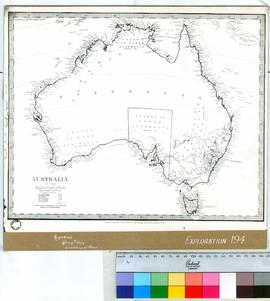 """Australia in 1839"" Society for the Diffision of Useful Knowledge, London 1840 [mounted..."
