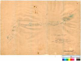 C.E. Burrows - exploration of the East Kimberley District [Reduction from tracing 1886].