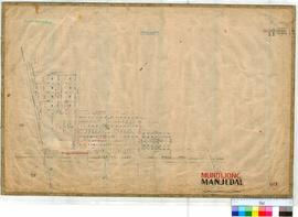 Mundijong 69. Plan of Mundijong Townsite showing Lots 1-6 by B. W. Ridley 1893. Lot 58 by L. Robe...