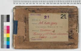 A.C. Gregory Field Book No. 21