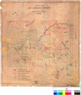 Sketch plan of North-East Canning Desert - Mapping Branch, Lands and Surveys, 1955.