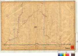 Midland Railway Company, Location 1371 Portion of South boundary by H.T. Hardy, Fieldbooks 7 & 8 [scale: 20 chains to an inch].
