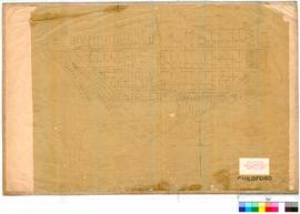 Guildford 17A. Plan of the townsite of Guildford showing convict site in Meadow Street and Lots b...