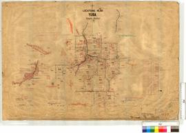 Near Yuba, survey of Locations 4249-4272, Yuba Subdivision by T.G. Lilliecrona [scale: 20 chains ...
