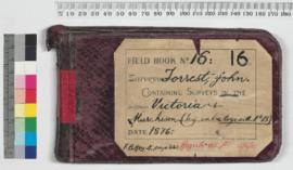 Field Book No. 16 - John Forrest. Containing surveys in the Victoria and Murchison districts (Trig. work etc to go with 15)