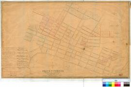 Perth 18C. Plan of Perth Townsite Lots between Charles Street & Swan River (Claise Brook) & Bulwer St to Bazaar St (duplicate of 18b) with additions & alterations [by W. Phelps?] undated/unsigned [scale: 6 chains to inch, tally No. 005755].