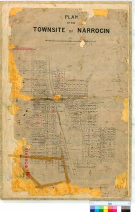 Narrogin 160/1. Plan of Narrogin Townsite showing Streets, Watercourse & Great Southern Railw...