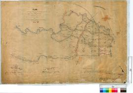 Survey of subdivision & roads south of Warren River and Big Hill Brook by A. Sanderson, 1910....