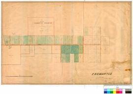 Fremantle 19/22. Fremantle (Suburban), marked by J. Cowle [scale: 40 chains to 1 inch].