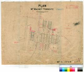 Mt Magnet 70/2. Plan of Mt Magnet Townsite showing Lots and Roads. Resumption 282 Sheet 21 for Ra...
