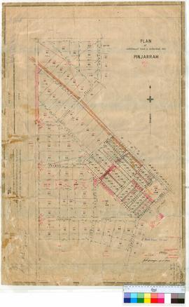 Pinjarra 51/3. Plan of Pinjarra Townsite showing additional Town & suburban Lots. Corresponde...