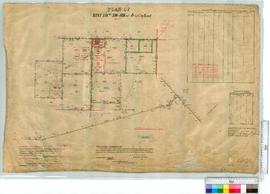 Plan of Kent locations 596-601, Reserve 643, by H. Russell, from Fieldbook 118 [scale: 20 chains ...