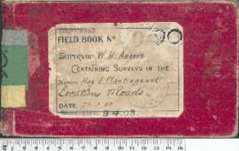 W.H. Angove Field Book No. 90. Containing surveys in the districts Hay and Plantagenet.