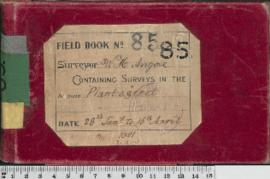 W.H. Angove Field Book No. 85. Containing surveys in the districts Plantagenet.