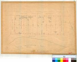 Perth 18U. Plan of part Perth Townsite showing part of Section L, Lots 1-10 by William Street, Barrack Street, St George's Terrace & Bazaar Street (unsigned & undated). [scale: 1 chain to an inch, Tally No. 005773].