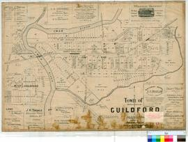 Guildford 17/7A. Town of Guildford. Published by Owtram & Purkiss, Estate Agents and Sworn Va...