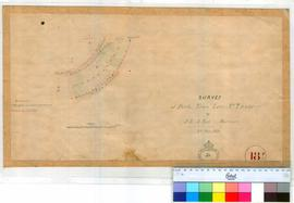 Perth 18P. Plan of Perth Town Lots Numbers T15-24 bounded by Waterloo & Nelson Crescents & Nile & Hay Streets. (RI Church of England Cemetery T26/T27 noted) by J. L. A. Ley, Surveyor 11/5/1870 (No Fieldbook). [scale: 3 chains to inch, Tally No. 005768].