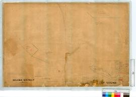Helena District 2. Locations Swan No. 16 and 1, 7, 8, 17, 18, 20 by Lefroy, 1849 [scale: 4 chains...