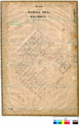Kalgoorlie 77/19. Plan of residence areas, Kalgoorlie (Town Lots 857 to 1044, North of Campbell Street). R. Gledden [scale: 2 chains to an inch].