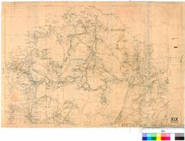 C.P. Conigrave - map of the northern part of the Kimberley Division showing track of C.P. Conigra...
