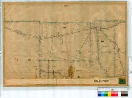 Locations 253, 26, 261, Pallingup River by Angove, Fieldbook 1A [30 chains to an inch, undated].