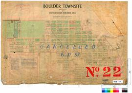 Boulder Sheet 22 [Tally No. 503775].