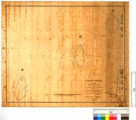 "Rowley Shoals, surveyed by Lieutenant W. Tooker in the schooner ""Airlie"" [scale: 1/2 inch to 1 mile of latitude]."