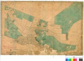 Albany 30/3. Albany, Lithograph showing the land claimed by The West Australian Land Company Limi...