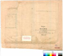 Folio XXXII. Survey showing boundary marks as placed by J.W. & A.C. Gregory.