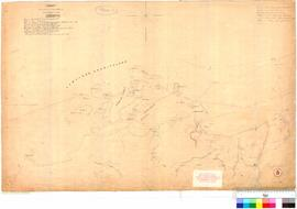"C.C. Hunt - chart showing the track of C.C. Hunt in the Cutter ""Mystery"", 1863 (Cape Preston to Gantheaume Bay)."
