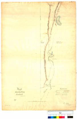 Road from the Dandalup Bridge to Fremantle, Sheet 2. From 19 mile peg to 31 mile peg by T. Watson [Tally No. 005038].