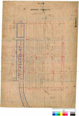 Bardoc 97. Plan of Bardoc Townsite Lots 1-140, W.H. Gibbits [scale: 2 chains to 1 inch].