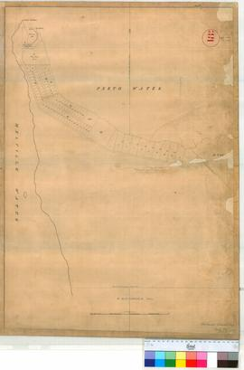 "Perth 18/11. Plan of Perth Townsite showing Lots 1-55 in Section ""M"" (South Perth, Point Belches). [scale: 6 chains to an inch, Tally No. 005785]."