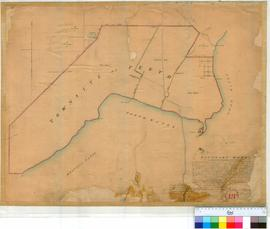 Perth 18X. Plan showing the Townsite of Perth with Ward boundaries & Lots A2, A3, A4, 89, Ac, Ad & Ax by A. Hillman, dated March 1841 approx. [Tally No. 005776].