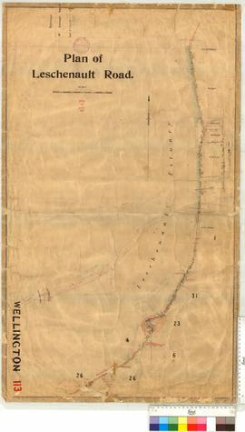 Survey of Leschenault Road from Preston Road northerly by H.I. Farrell, Fieldbook 11 [scale: 20 c...
