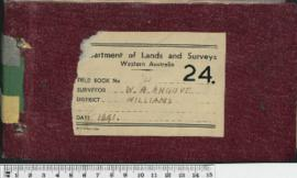 Field Book No. 24. W.H. Angove. Williams