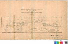 E. Giles - map of exploration from Beltana Station (South Australia) to the City of Perth (Endors...