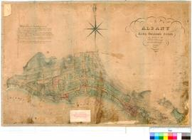 Albany 30A. Albany, King George's Sound as marked by Philip Chauncy, Assistant Surveyor, MDCCCLI [scale: 4 chains to an inch, Tally No. 005618].
