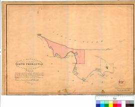 Fremantle 19F. Plan of boundaries proposed for the townsite of North Fremantle in Western Australia, 7 March 1836. A. Hillman [scale: 1 chain to 1 inch, Tally No. 005683].
