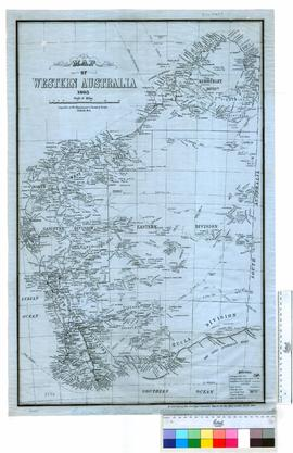 Map of Western Australia (1893) for 1929 annual report.