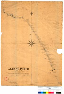 Part of road Albany to Perth, marked by A. Hillman [Tally No. 005222].