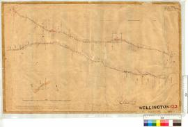 Road from Donnybrook (Trigwell St) southerly to Location 255 by W.J. Crowther, Fieldbook 1 [scale...