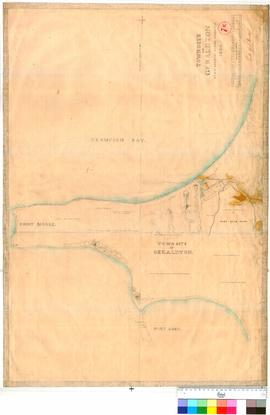 Geraldton 7E. Townsite of Geraldton by A. C. Gregory, Assistant Surveyor, 1850 [scale: 80 chains ...