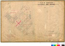 Kalgoorlie 77/84. Plan of subdivision, Kalgoorlie - area west of Lane Street and Federal Road [sc...